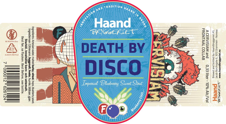 Etikettsidedeath By Disco Haandbryggeriet